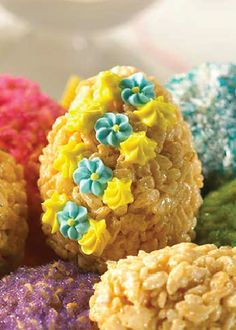 Rice Krispies Treats® make for the perfect Easter dessert. They're so easy for little hands to mold, and with brightly colored frosting and a little imagination, you and the kids will have a blast decorating these Easter eggs.