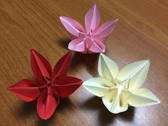 How to make Origami flower Carambola Carmen - DIY Tutorial - YouTube