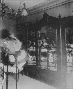 Salon of milliner Madame C, in paris 1910. By Eugène Atget http://gallica.bnf.fr/ark:/12148/btv1b31000024/f17.item.r=btv1b31000024