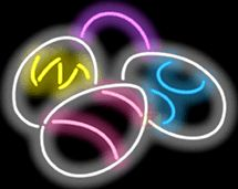 Easter Eggs Neon Sign