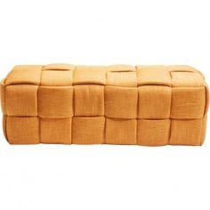 Banc contemporain en tissu orange - Woven - Kare Design