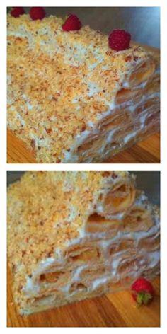 Торт «Яблочная избушка» со сметанным кремом Healthy Life, Recipies, Deserts, Food And Drink, Cooking Recipes, Cereal, Cookies, Baking, Breakfast