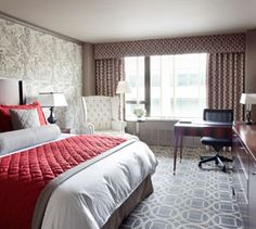 Deluxe king guest room at The Madison hotel in Washington, DC 2 Bedroom Suites, Two Bedroom, Master Bedroom, Luxury Hotel Design, Large Family Rooms, Modern Bedroom Design, Luxury Accommodation, Luxurious Bedrooms, Apartment Design