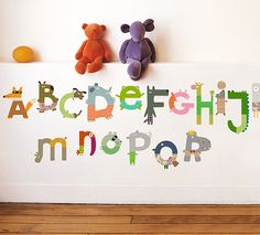 alphabet decals by nouvelles images/ featured on discoverpaper.com; i don't have kids, but these are brilliant!