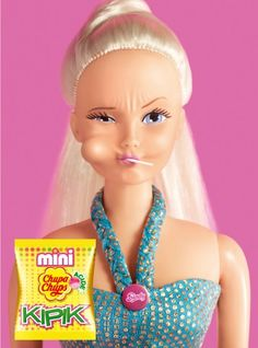 """I find this advertisement interesting because they chose to incorporate Barbie into their advertising. Barbie is seen as an example of """"perfection."""" I feel that with pairing Barbie with a product makes the product as amazing as Barbie is. http://heapro.oxfordjournals.org/content/23/4/337.full"""