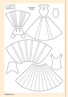 Paper Embroidery Ideas Template for paper dress More More - Here are all your free templates for the projects in issue including Jenny Hodges' 3d Templates, Card Making Templates, Scrapbook Templates, Scrapbook Cards, Scrapbooking Ideas, Paper Craft Templates, Card Making Ideas Free Printables, Card Templates Printable, Origami Dress