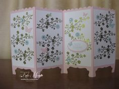 Love this card. Legs made with the decorative label punch. Just gorgeous Fancy Fold Cards, Folded Cards, Card Making Tutorials, Making Ideas, Screen Cards, Asian Cards, Scrapbooking, Shaped Cards, Butterfly Cards