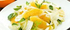 Crunchy, tart and sweet, pairing fennel and orange tastes even better than it looks. Fennel Bulb and Orange Salad Ingredients Blue Zones Recipes, Zone Recipes, Raw Food Recipes, Salad Recipes, Cooking Recipes, Healthy Recipes, Delicious Recipes, Easy Recipes, Fennel And Orange Salad