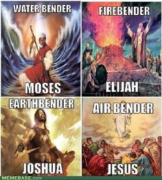 The only problem with this is that Jesus was totally the Avatar.