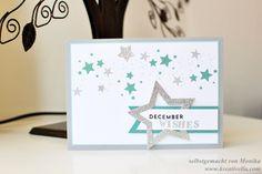 Weihnachtskarte | Dezemberträume | December wishes | Sterne | Perpetual Birthday Calendar | Sterne | kalte Farben | Stampin' Up!