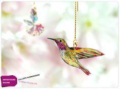 Sternelfe Ohrkette Ohrringe Vogel Blüte Kolibri von fraufischers