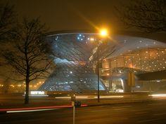 Exterior Night, BMW Show Room, Munich by Alex Martin Architecture, via Flickr