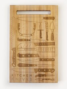 Pop Chart Lab --> Design + Data = Delight --> Kitchen Knives Cutting Board