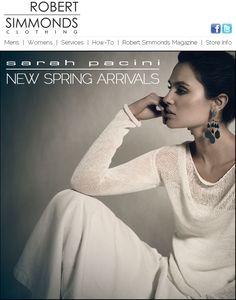 Robert Simmonds - Sarah Pacini spring arrivals