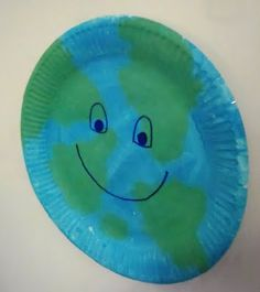 paper plate earth  face