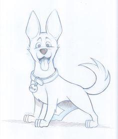Kleine cartoon hond schets