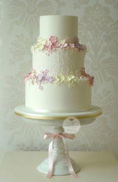 """""""Garden Of Eden"""" wedding cake  ~ all edible"""