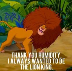Well I am (because I played young simba)