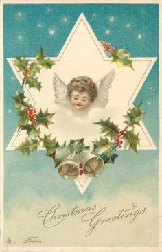 Halloween greetings frances brundage halloween thanksgiving christmas greetings from angels head in star looking down frontleft holly around m4hsunfo