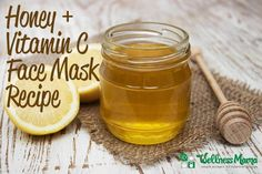 This simple honey and vitamin c face mask and scrub with organic sugar and lavender essential oil reduces inflammation and smoothes skin.