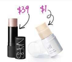 e.l.f. All Over Stick $1 versus NARS Multiple for $39 -- Can be used as shadow, blush, bronzer, highlighter, lipstick -- Splurge vs Steal: ELF Makeup Dupes You Can't Resist!