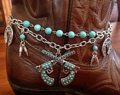 Boot Jewelry, Boot Bracelet, Boot Bling, Boot Charms, Christian Bracelet, Cowgirl Boot Bracelet, Cowgirl Boot Accessories