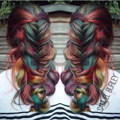 "#hotonbeauty #featurepage #beautymag #rainbowhair #braids Hot Beauty Magazine"""