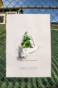 We get so excited; we wet our plants. Paper art promoting community gardens in New Zealand.