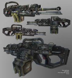 Titan Heavy Rifle, 40mm , Ryan Lastimosa on ArtStation at…