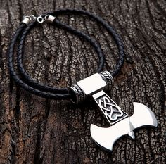 Silver Thors Hammer Necklace