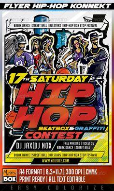 Flyer Hip-Hop Konnekt Template PSD | Buy and Download: http://graphicriver.net/item/flyer-hiphop-konnekt/8683888?WT.ac=category_thumb&WT.z_author=MonkeyBOX&ref=ksioks