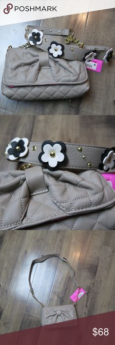 Betsey Johnson Floral Quilted Shoulder Bag NWT This is the perfect purse for a GNO! Add a LBD and you're ready to go! Betsey Johnson Bags Shoulder Bags