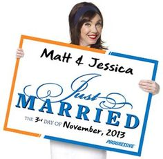 Progressive Free Just Married Sign for Your Getaway Car – US