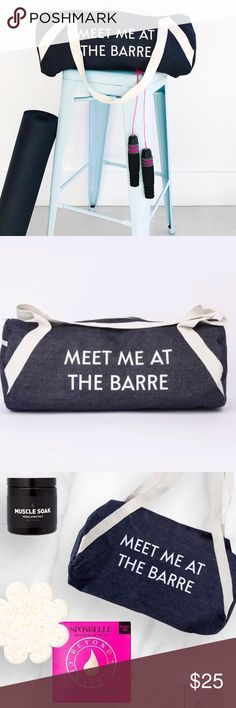 Private Party Meet Me At The Barr Denim Duffle Bag Nice large size, 20x9 brand new Duffle by private Party PRIVATE PARTY Bags Totes
