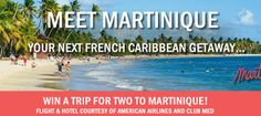 Martinique Winter Getaway Sweepstakes. Visit GiveawayHop.com for more #sweepstakes and #giveaways