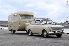 1968 Fiat 850 Special with Franza caravan