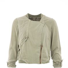 Garcia Cropped Bomber Jacket (7.655 RUB) ❤ liked on Polyvore featuring outerwear, jackets, green, women, green zipper jacket, green zip jacket, flight jacket, green bomber jacket and green flight jacket