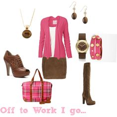 Work, created by thesassylass on Polyvore