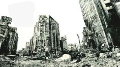 Hisaharu Motoda ARTWORKS city earthquake disaster