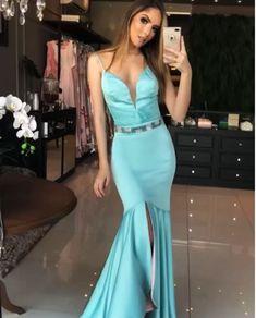 vestido azul tiffany para madrinha Maquiagem Festa, Mãe Da Noiva, Vestido  De Festa Longo e9725931f7