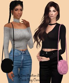 Circle Bag Conversion + jacket recolors at Lumy Sims via Sims 4 Updates