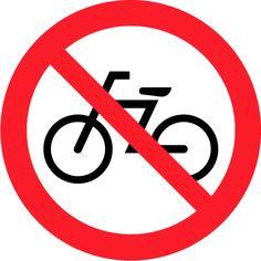 6 禁止 Prohibition 自転車乗り入れ禁止 No bicycles
