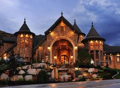 This house looks like a castle