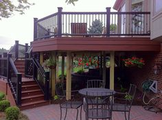 Very Nice Deck Design by Autumn Wood Construction.