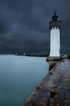 Le phare de Port Haligen sur la presqu'île de Quiberon dans le Morbihan.