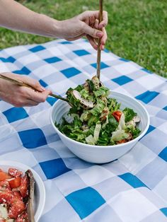 Summer Salads: Watermelon Mint Salad   Rosemary Chicken Salad Recipe> The Effortless Chic