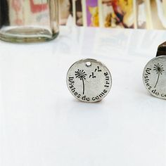 20mm Antique Silver Letters Charm Pendants Dandelion Charm Pendants Wishes do come true Charm Pendants MF1516