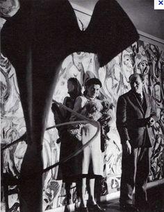 Jackson Pollock with Peggy Guggenheim, 1943