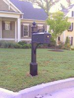 The Estate Aluminum Mailbox and Post System - Style B:Amazon:Home Improvement