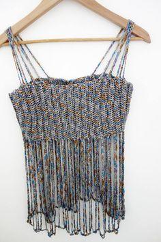 Crochet Pattern Bralette Crop Top Body Necklace Jewelery